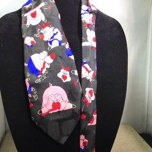 Addiction 100% silk piggy print tie